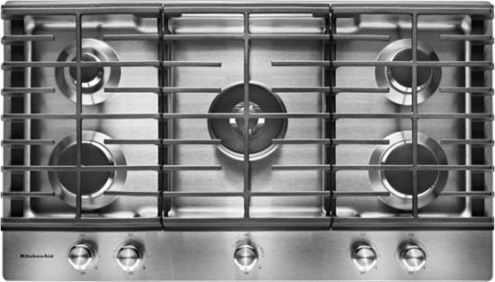 KITCHENAID 30u2033 5 BURNER GAS COOKTOP NEW IN BOX STAINLESS WARRANTY U2013 Made  Appliance Outlet